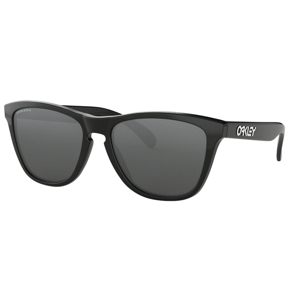 Oakley Frogskins Sunglasses - Polished Black - Prizm Black Iridium Round Sunglasses by Oakley O/S (one size)