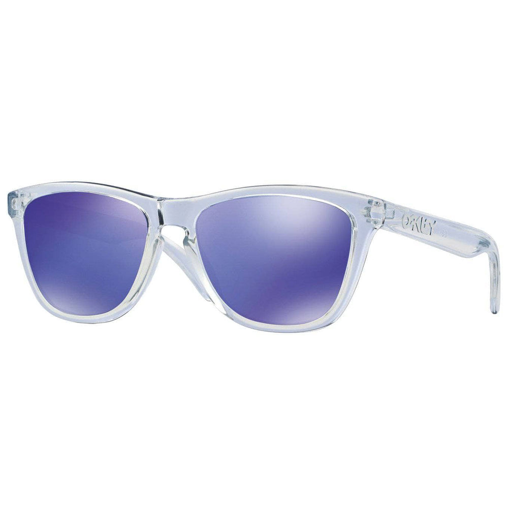 Oakley Frogskins Sunglasses - Polished Clear - Violet Iridium Round Sunglasses by Oakley O/S (one size)