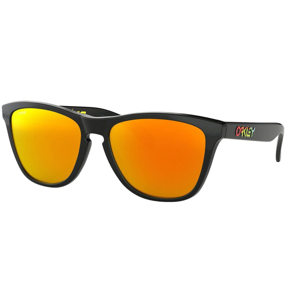 Oakley Frogskins Sunglasses - V. Rossi - Polished Black - Fire Iridium Round Sunglasses by Oakley O/S (one size)