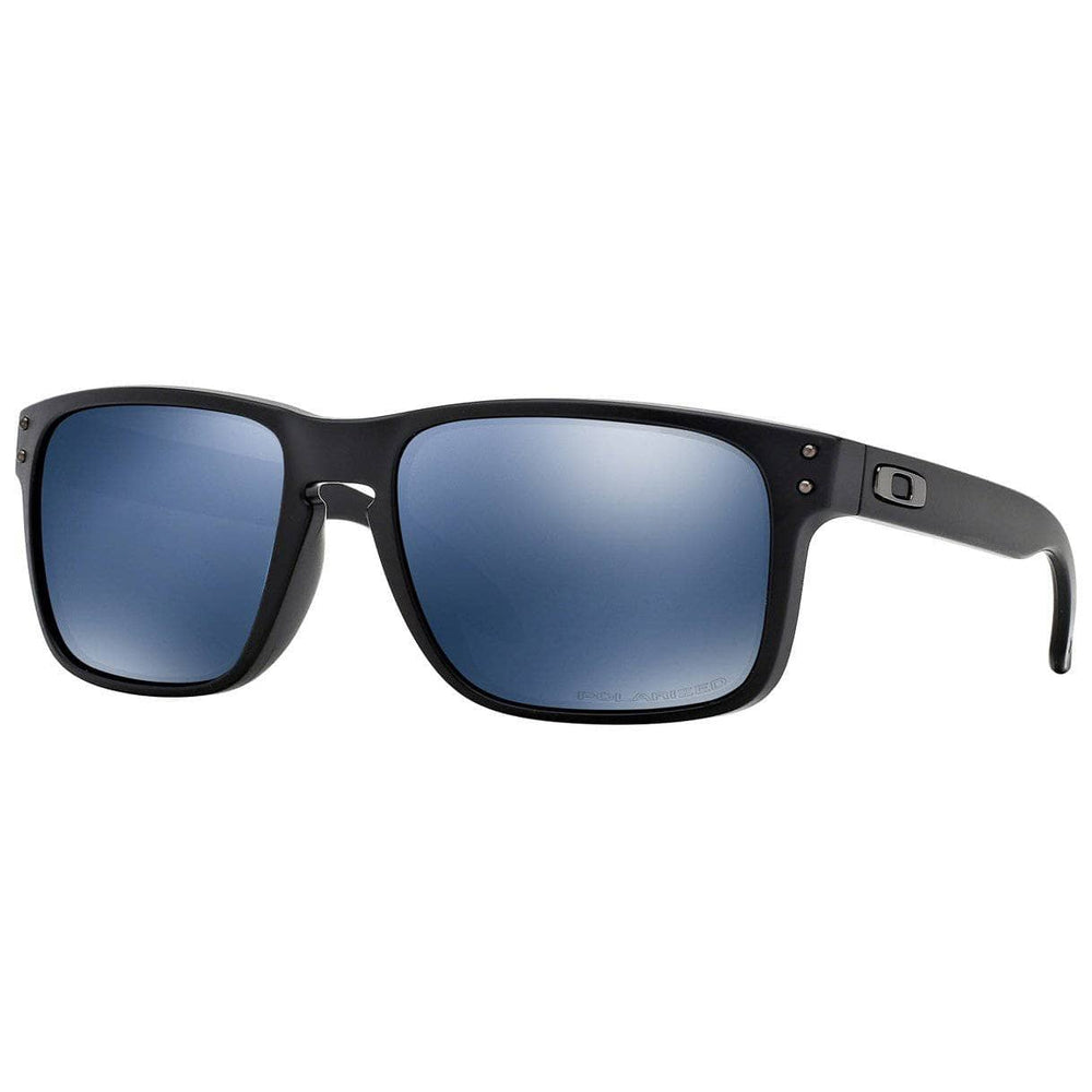 Oakley Holbrook Sunglasses - Matte Black - Polarized Ice Iridium Square/Rectangular Sunglasses by Oakley O/S (one size)