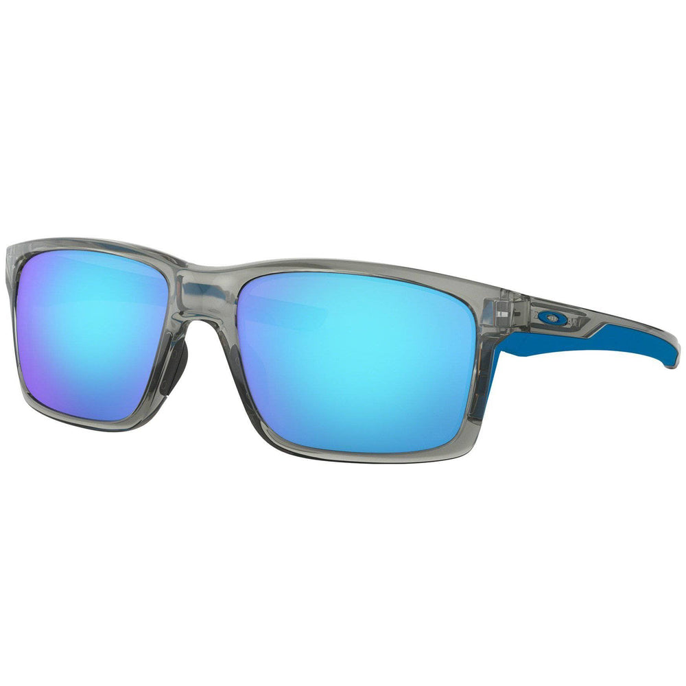 Oakley Mainlink Sunglasses - Grey Ink - Sapphire Iridium Wrap Around Sunglasses by Oakley O/S (one size)