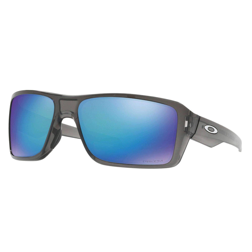 Oakley Oakley Double Edge Sunglasses - Grey Smoke Prizm Saphire Grey Smoke N/A Wrap Around Sunglasses by Oakley
