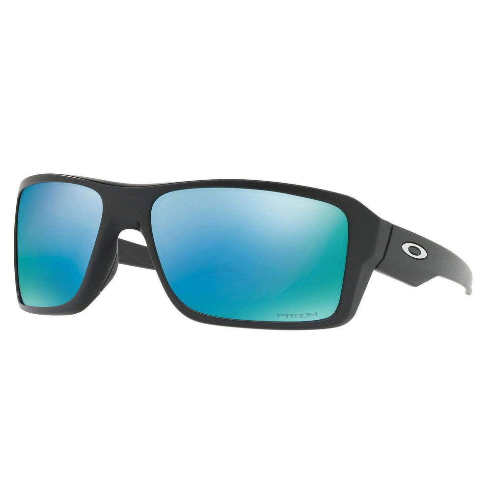 Oakley Oakley Double Edge Sunglasses - Matte Black Prizm Deep Water H2O Polarized Matte Black N/A Wrap Around Sunglasses by Oakley