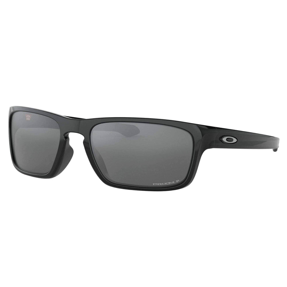 Oakley Oakley Sliver Stealth Sunglasses - Polished Black Prizm Black Polarized Polished Black N/A Wrap Around Sunglasses by Oakley