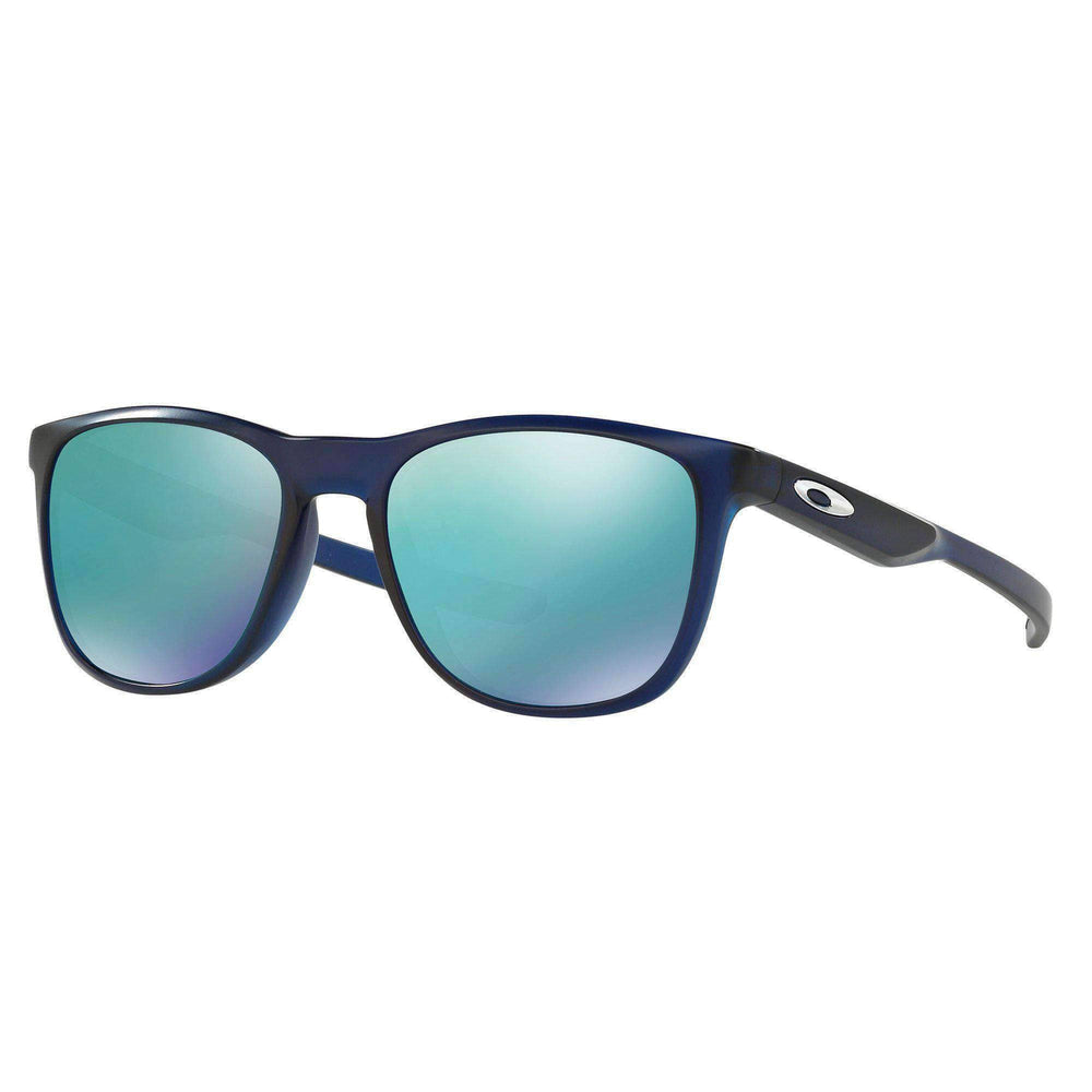 Oakley Oakley Trillbe X Sunglasses - Matte Trans Blue Jade Iridium Trans Blue N/A Wrap Around Sunglasses by Oakley