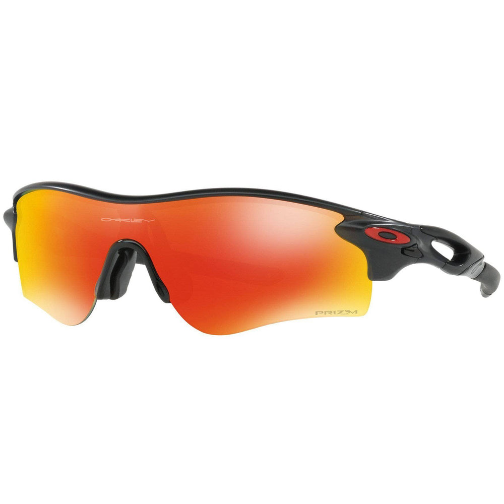 Oakley Radarlock Path Sunglasses - Matte Black Ink - Prizm Ruby Wrap Around Sunglasses by Oakley O/S (one size)