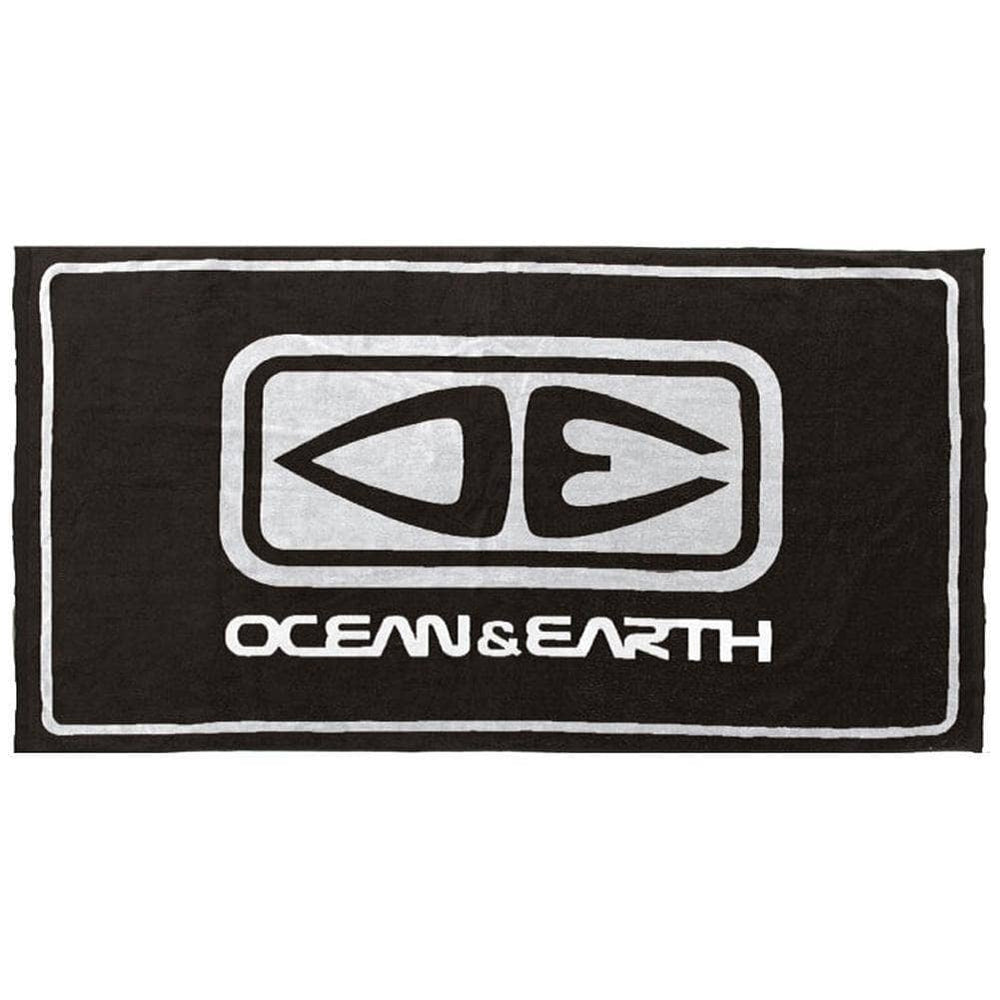 Ocean and Earth Priority Towel - Black Beach Towel by Ocean and Earth O/S (one size)