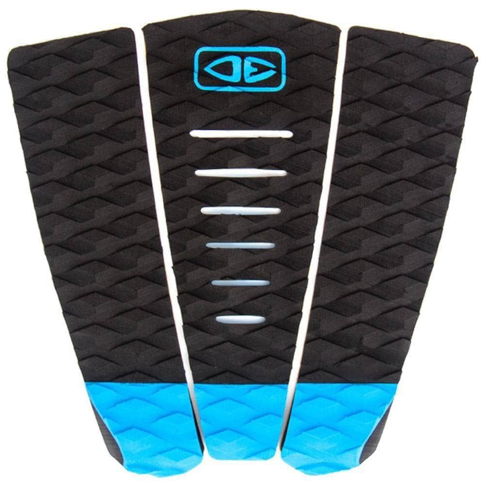 Ocean and Earth Simple Jack Tail Pad Surfboard Deck Grip - Black Blue 3 Piece Tail Pad by Ocean and Earth O/S (one size)