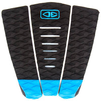 Ocean and Earth 3 Piece Tail Pad Ocean and Earth Simple Jack Tail Pad Surfboard Deck Grip - Black Blue O/S (one size)