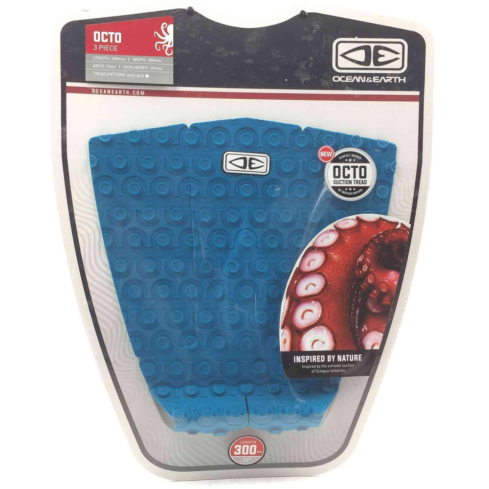 Ocean & Earth Octo Surfboard Tail Pad in Aqua 3 Piece Tail Pad by Ocean and Earth