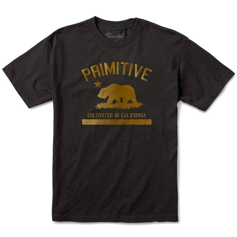 Primitive Cultivated Solid T-Shirt in Black Mens Graphic T-Shirt by Primitive
