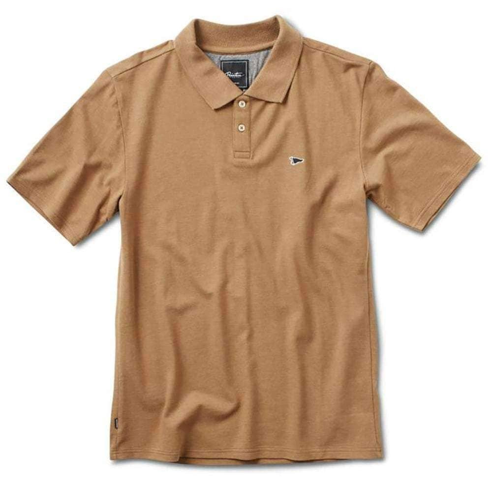 Primitive Pennant Pique Polo Shirt in Camel Mens Polo Shirt by Primitive