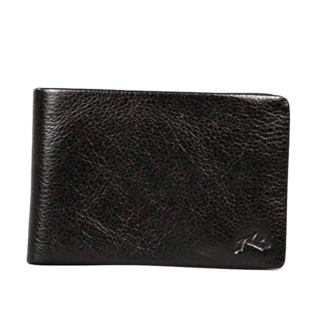 Rusty Bust Leather Wallet in Black Mens Wallet by Rusty
