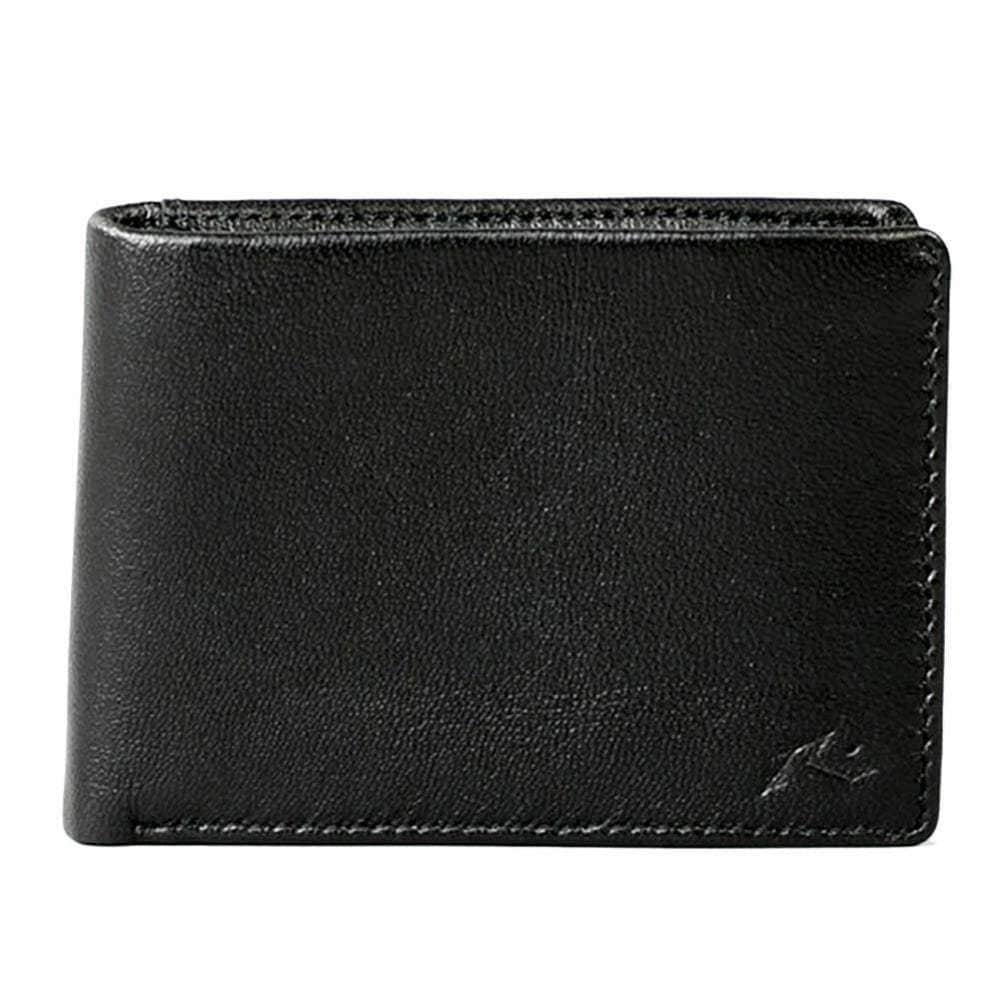 Rusty Ground Leather Wallet in Black Mens Wallet by Rusty