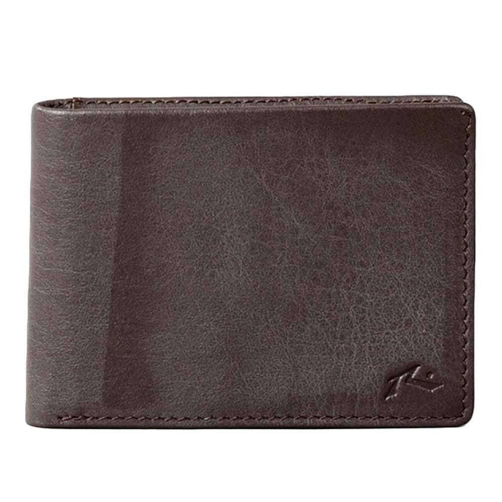 Rusty Mens Wallet Rusty Ground Leather Wallet in Chocolate