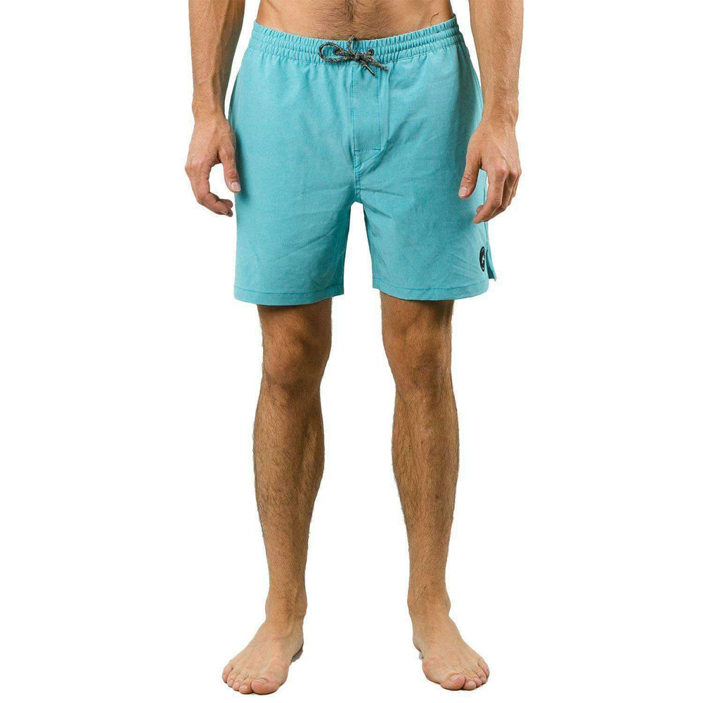 Rusty Marled 2 Elastic Boardshort in Maui Blue Mens Boardshorts by Rusty