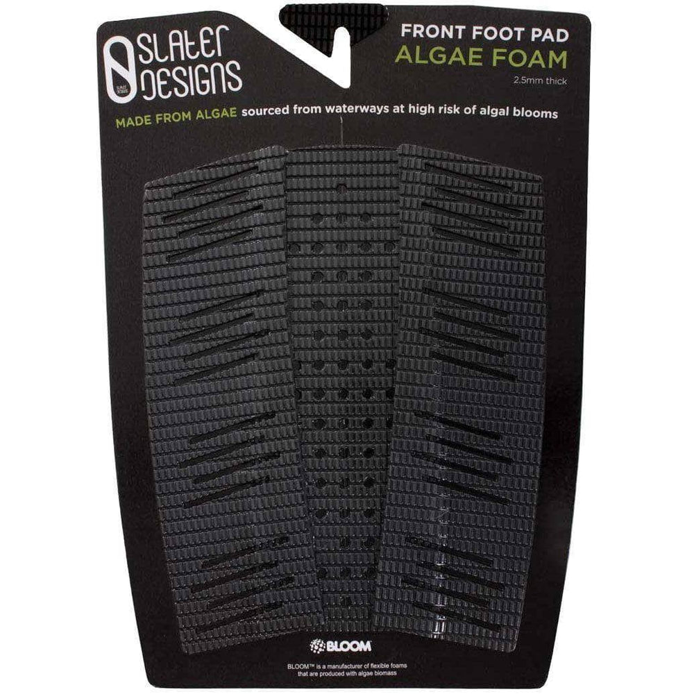 Slater Designs Front Foot Algae Foam Traction pad Black/Grey O/S (one size) Full Traction/Front Foot Surfboard Pad by Slater Designs