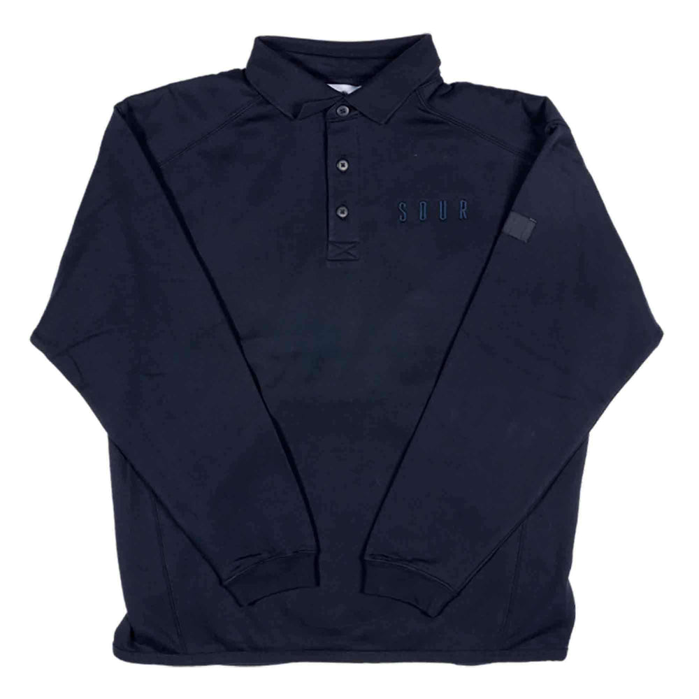 Sour Sweatshirt Polo in Navy Mens Crew Neck Sweatshirt by Sour