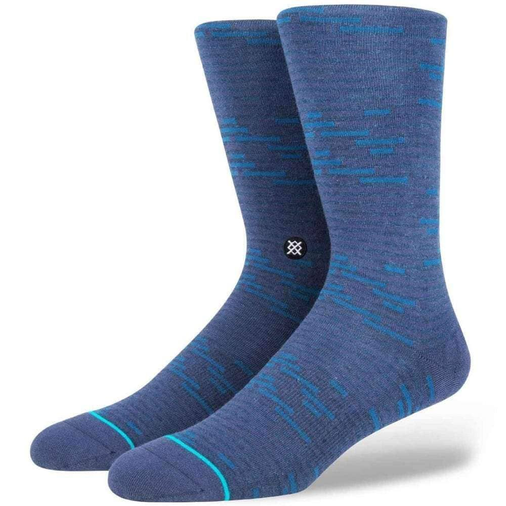 Stance Ancestors Socks in Navy Mens Crew Length Socks by Stance