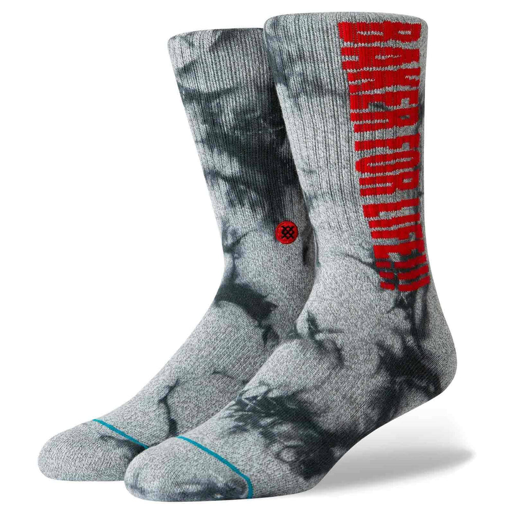 Stance Baker For Life Socks - Grey Mens Crew Length Socks by Stance