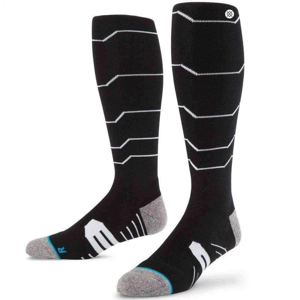 Stance Baldface Ski/Snowboard Socks in Black Mens Snowboard/Ski Socks by Stance