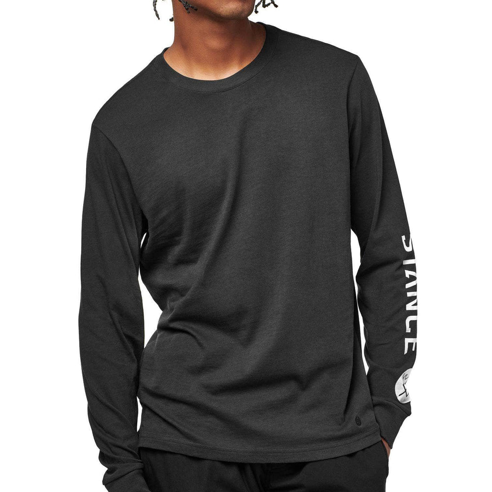 Stance Basic L/S T-Shirt - Black Fade Mens Graphic T-Shirt by Stance