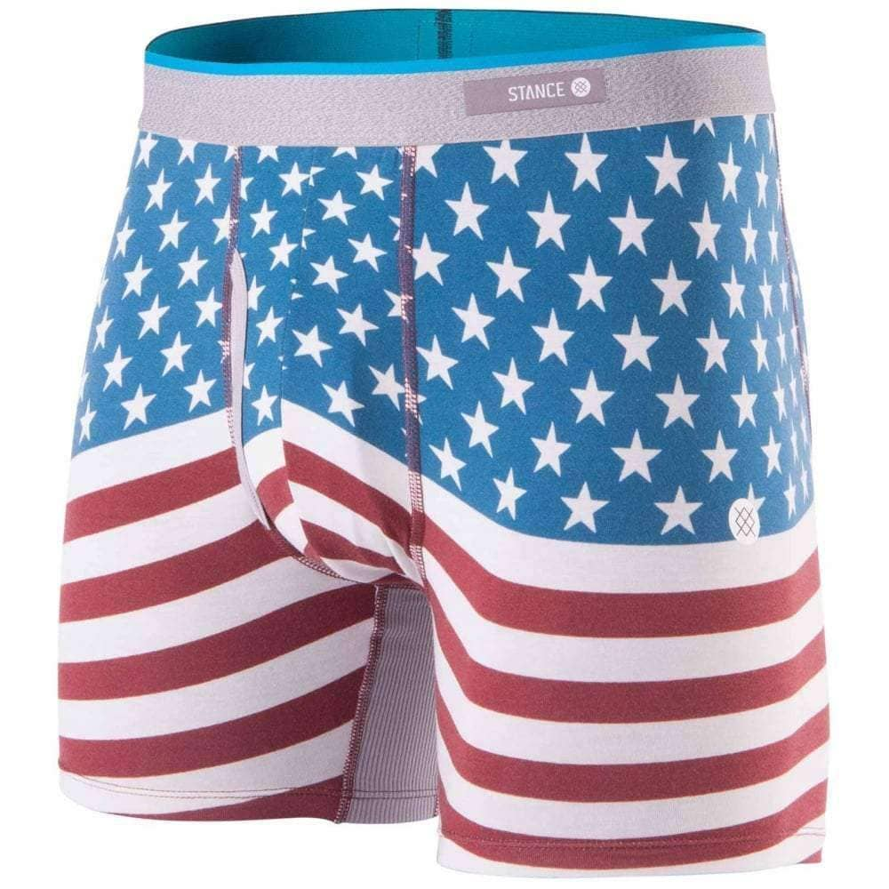 Stance Bicentennial Butter Blend Boxer Brief Underwear in Red Mens Boxer Briefs Underwear by Stance