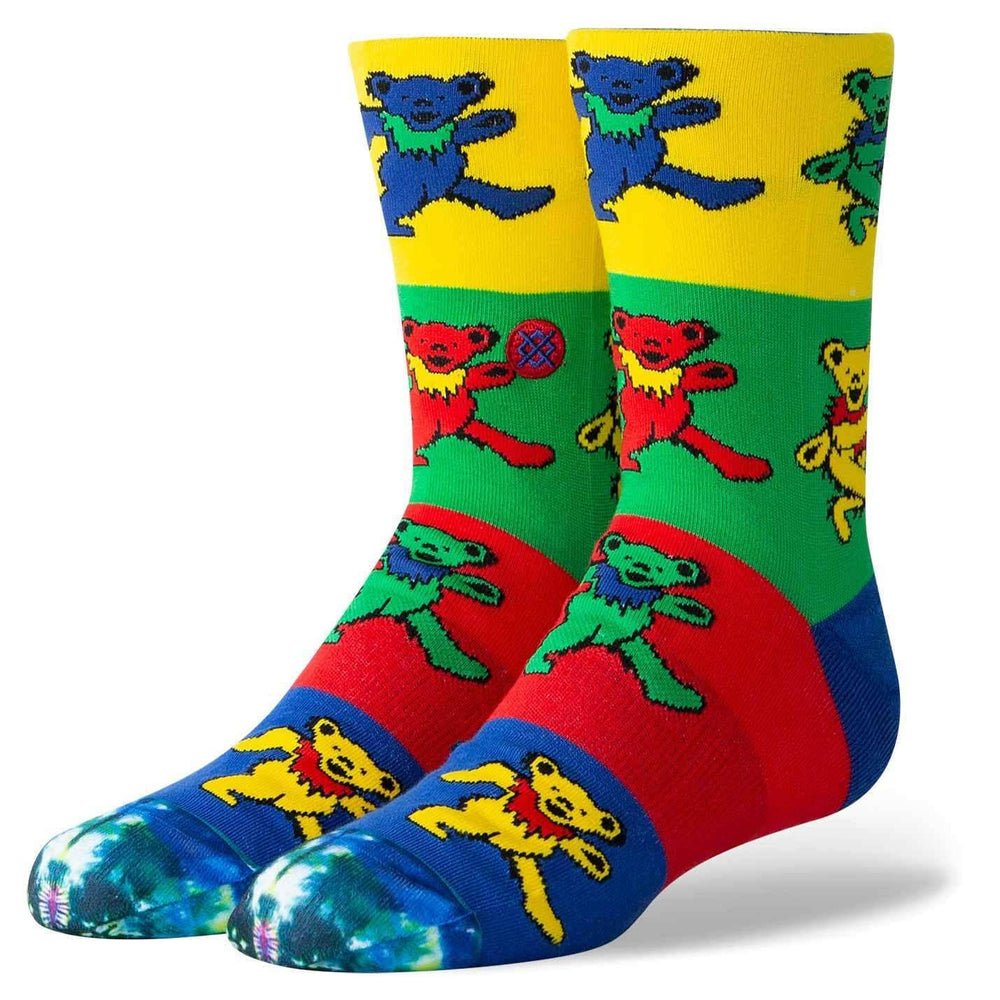 Stance Boys Grateful Socks - Multi Kids Crew Length Socks by Stance