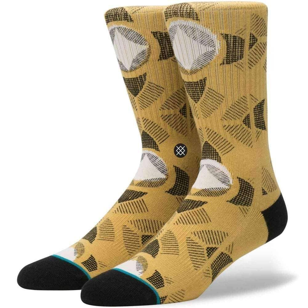 Stance Cancun Socks in Gold Mens Crew Length Socks by Stance