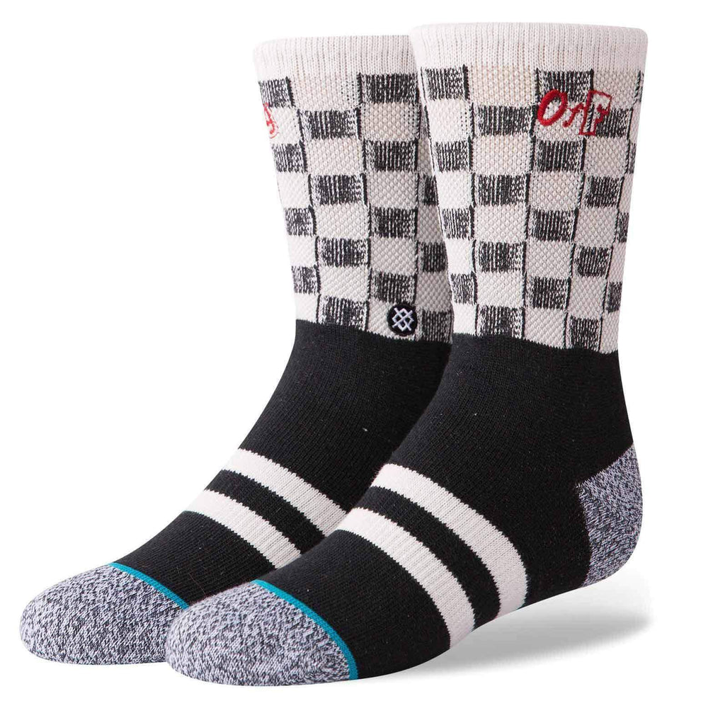 Stance Check Me Out Boys Socks - Black Kids Crew Length Socks by Stance