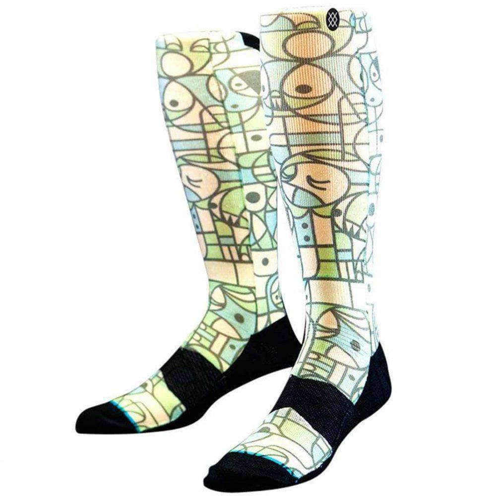 Stance Don Pendelton Ski/Snowboard Socks in Green Mens Snowboard/Ski Socks by Stance