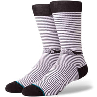 Stance Eye Spy Socks - White Mens Crew Length Socks by Stance