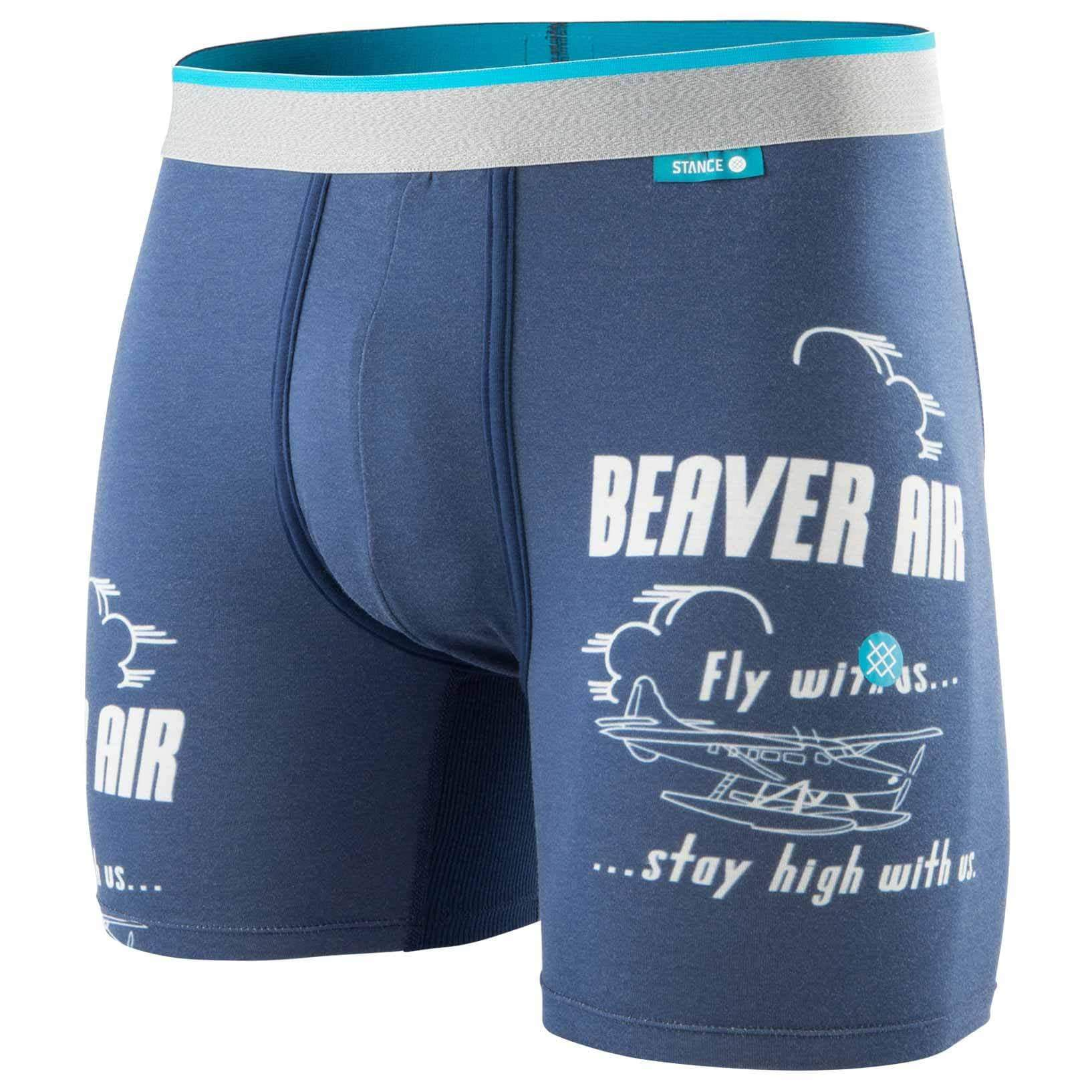 Stance Mens Boxer Briefs Underwear Stance Fly By Wholester Boxer Brief - Navy
