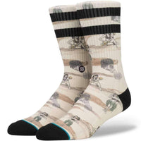Stance Hickman Socks in Off White Mens Crew Length Socks by Stance