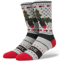 Stance Missle Toe 2 Socks in Grey Mens Crew Length Socks by Stance