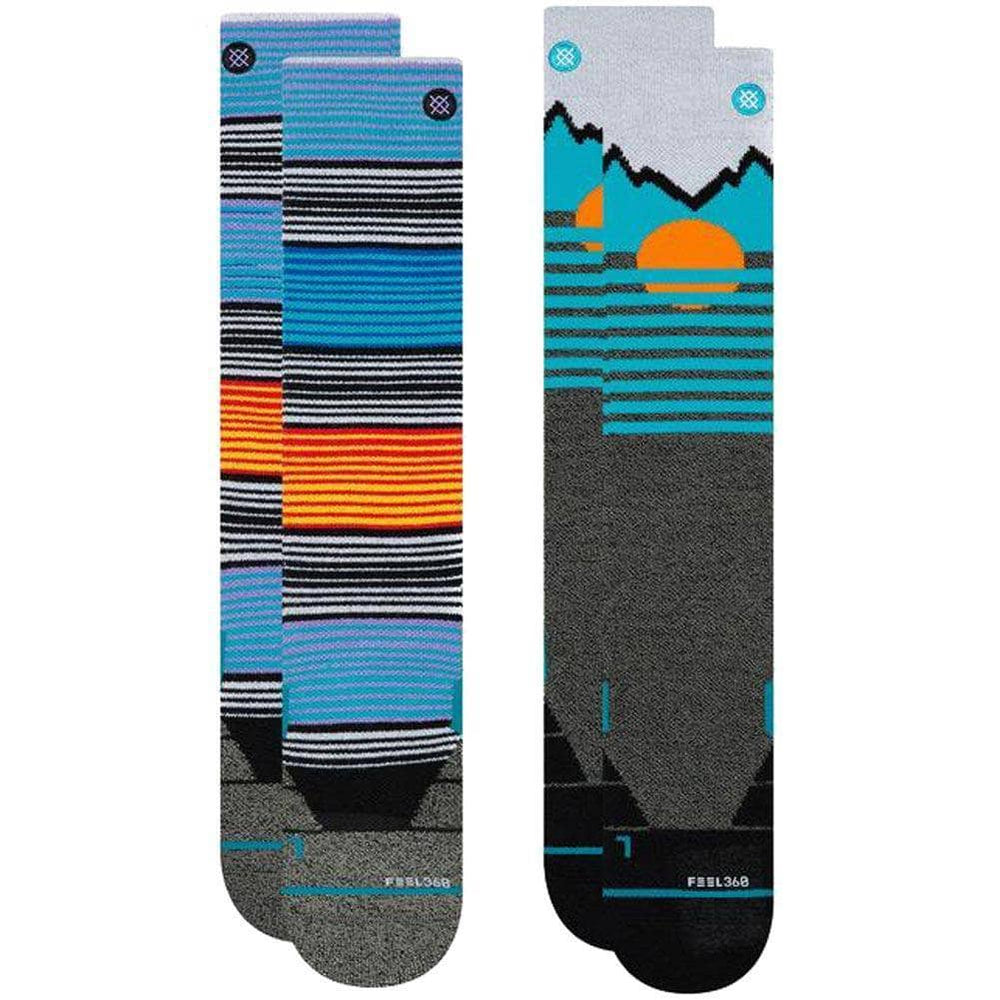 Stance Mens Snowboard/Ski Socks Stance Mountain 2 Pack Ski/Snow Socks Multi