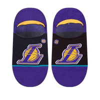 Stance NBA Arena Lakers Invisible Low Socks in Black Mens Low/Ankle Socks by Stance