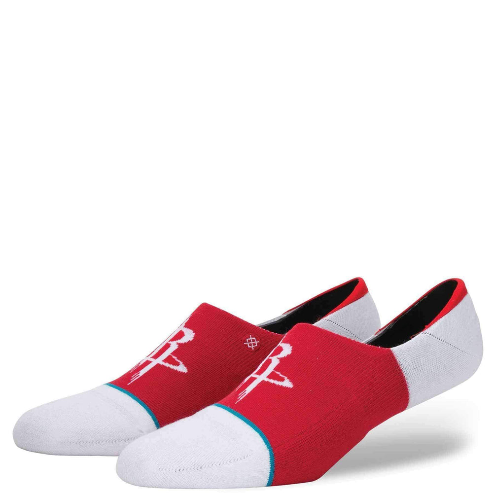 Stance NBA Arena Rockets Invisible Low Socks in Red Mens Low/Ankle Socks by Stance