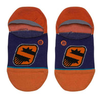 Stance NBA Arena Suns Invisible Low Socks in Purple Mens Low/Ankle Socks by Stance