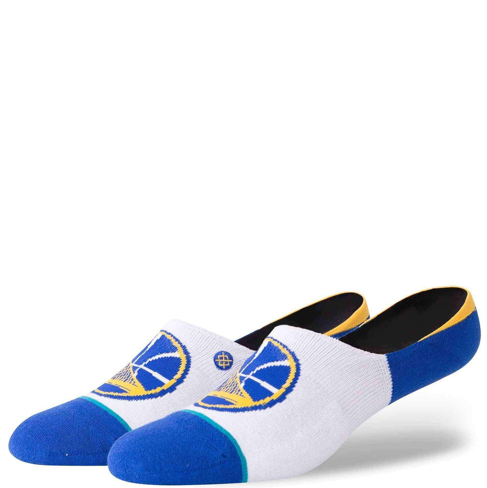 Stance NBA Arena Warriors Invisible Low Socks in White Mens Low/Ankle Socks by Stance