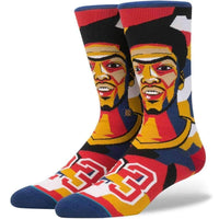 Stance NBA Future Legends Mosaic Davis Basketball Socks in Navy Mens Crew Length Socks by Stance