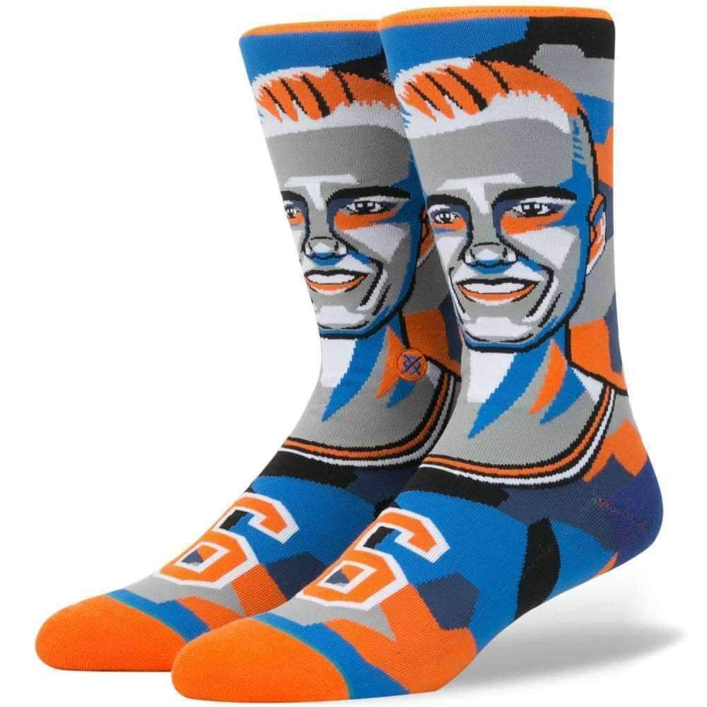 Stance NBA Future Legends Mosaic Porzingis Basketball Socks in Orange Mens Crew Length Socks by Stance
