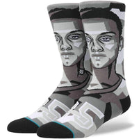 Stance NBA Future Legends Mosaic Simmons Basketball Socks in Grey Mens Crew Length Socks by Stance
