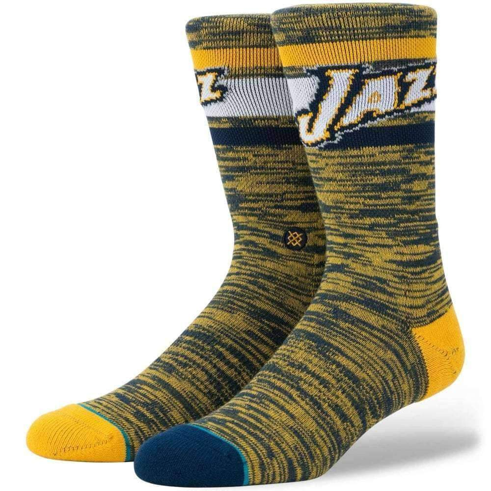 Stance NBA Jazz Melange Socks in Green Mens Crew Length Socks by Stance