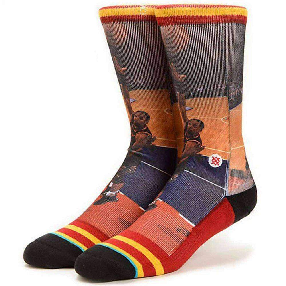 Stance NBA Legends Alonzo Mourning Basketball Socks in Miami Heat Mens Crew Length Socks by Stance L/XL (UK8-12.5)
