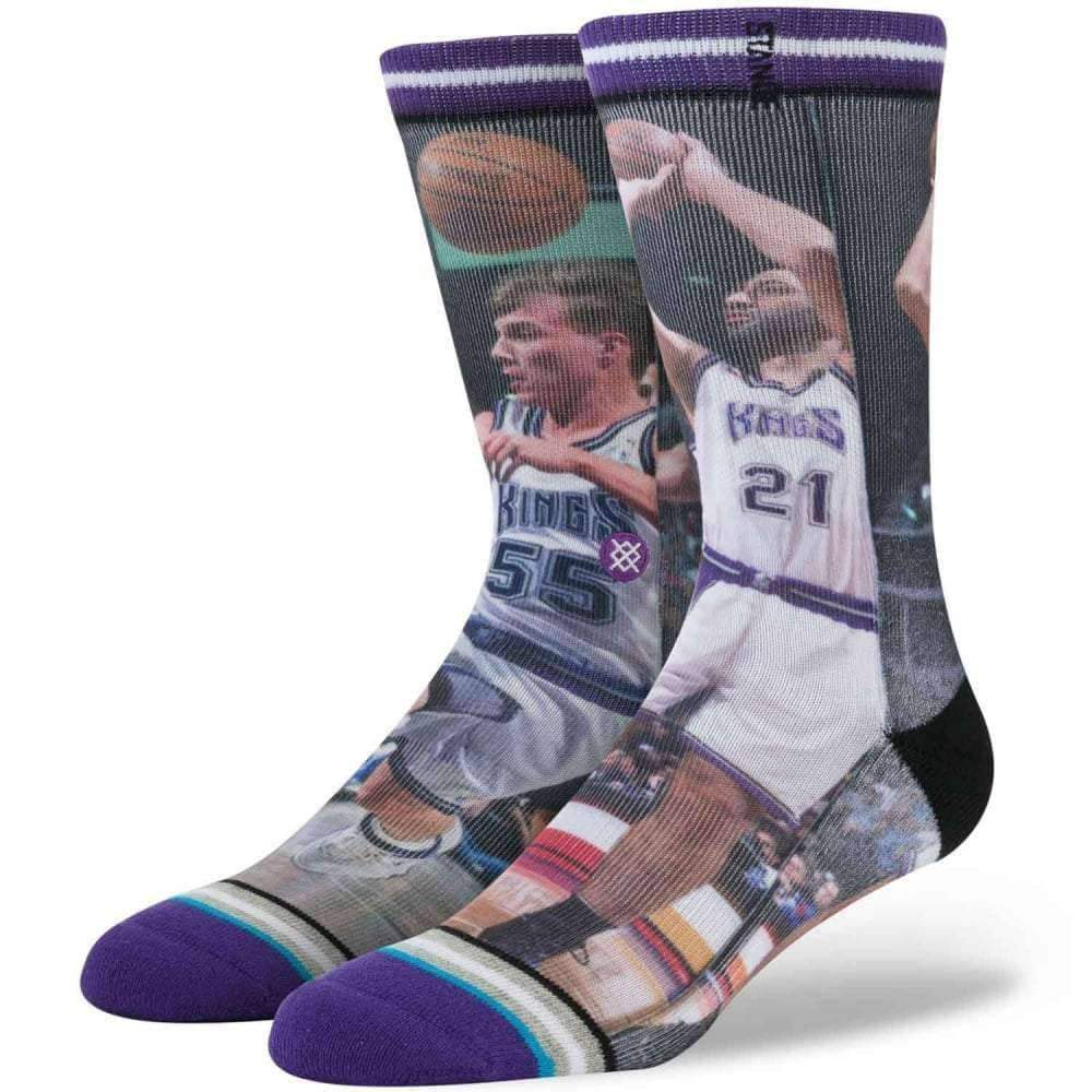 Stance NBA Legends Divac/Williams Basketball Socks in Kings Mens Crew Length Socks by Stance