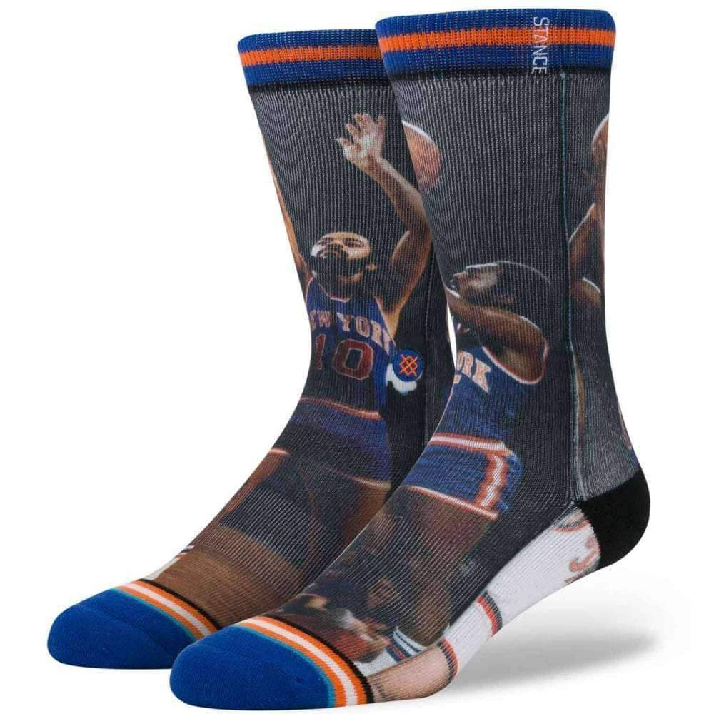 Stance NBA Legends Frazier/Monroe Basketball Socks in Knicks Mens Crew Length Socks by Stance
