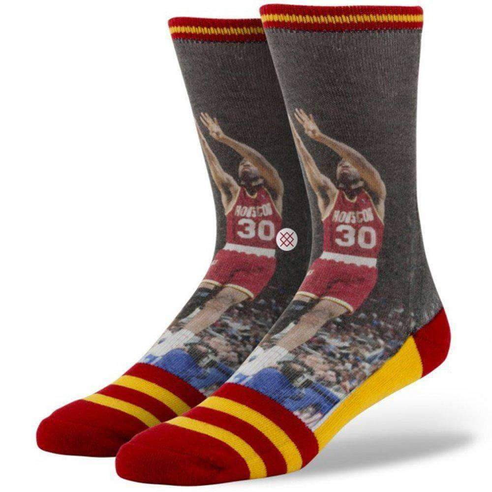 Stance NBA Legends Kenny Smith Basketball Socks in Rockets Mens Crew Length Socks by Stance L/XL (UK8-12.5)