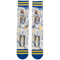 Stance NBA Legends TF Klay Basketball Socks in Blue Mens Crew Length Socks by Stance