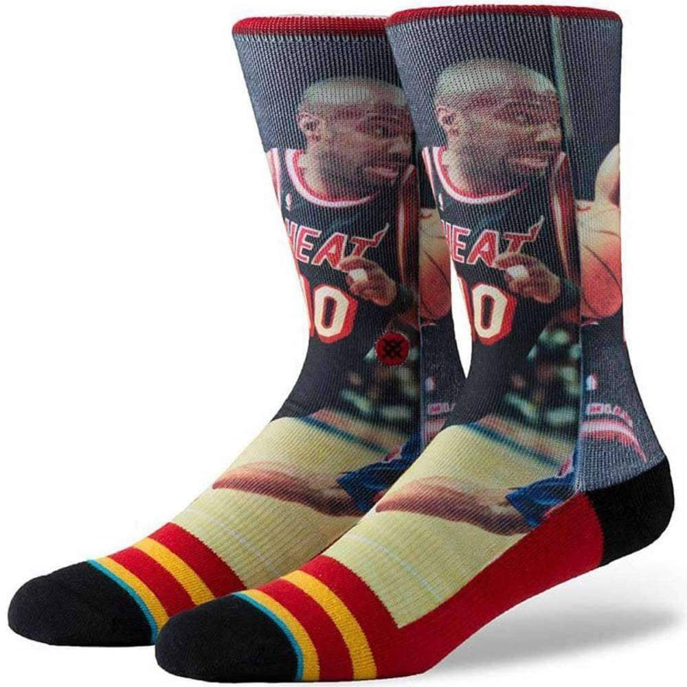 Stance NBA Legends Tim Hardaway Basketball Socks in Red Mens Crew Length Socks by Stance S/M (UK5-8)